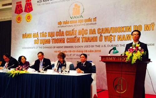 越南已采取多项扶持措施并呼吁国际社会及国内外组织共同携手克服橙剂后果 hinh anh 1