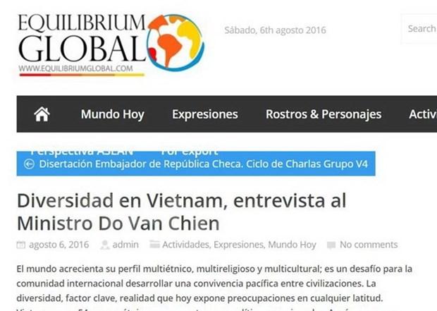 阿根廷媒体高度评价越南对少数民族群体的政策 hinh anh 1
