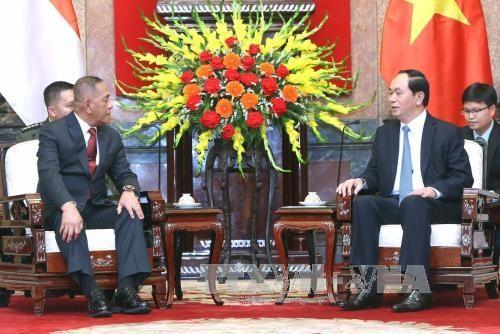 越南国家主席陈大光会见印尼国防部长 hinh anh 1