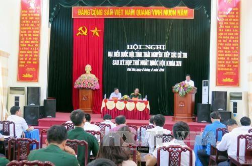 越南政府副总理范平明接触太原省的选民 hinh anh 1