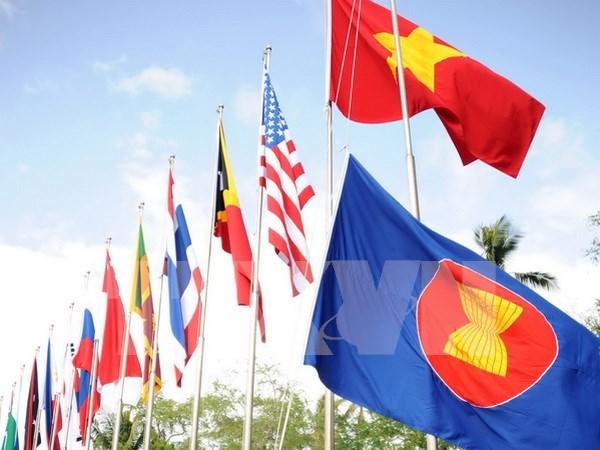 柬埔寨举行东盟旗升旗仪式庆祝东盟成立49周年 hinh anh 1