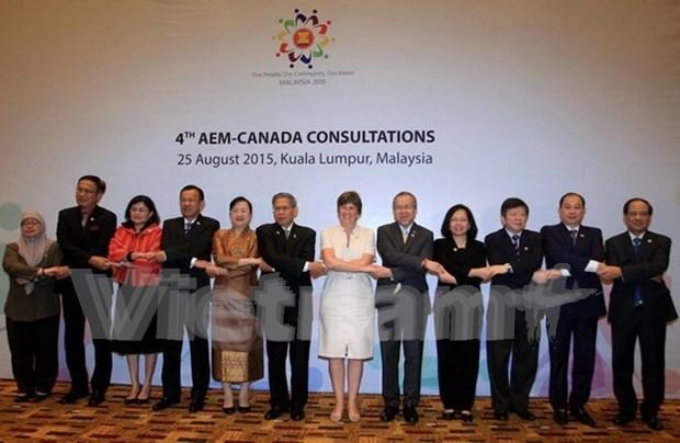 东盟与加拿大正式启动年度贸易对话 寻找自贸协定开启机会 hinh anh 1
