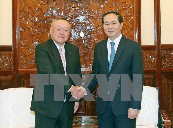 国家主席陈大光:越日合作潜力巨大 hinh anh 1