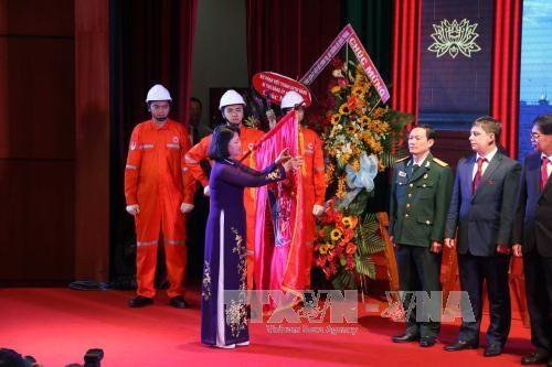 越苏石油联营公司成立35周年暨第一吨原油开钻30周年纪念仪式 hinh anh 2