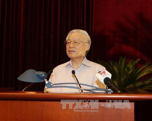 阮富仲总书记:希望离退休高级官员和干部继续为国家建设事业做出贡献 hinh anh 2