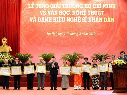 2016年文学艺术国家奖和胡志明奖颁奖仪式将于9月底举行 hinh anh 1