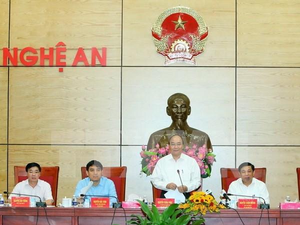 阮春福总理:乂安省应着力更新思维方式 谋划经济社会发展 hinh anh 1
