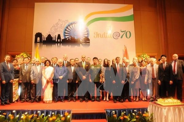印度共和国独立日69周年庆典在河内举行 hinh anh 1