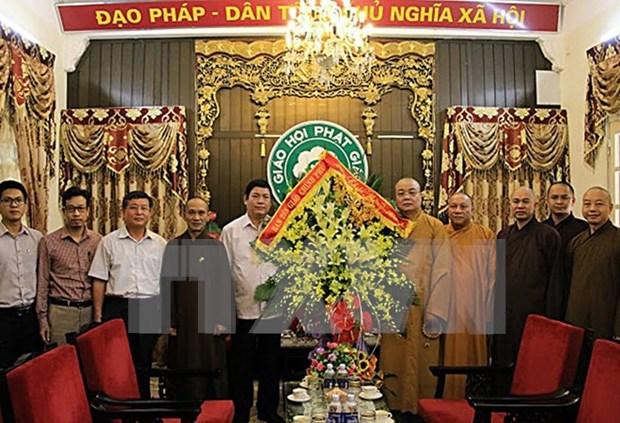越南政府宗教委员会领导向越南佛教协会教职人员致以盂兰盆节的祝福 hinh anh 1