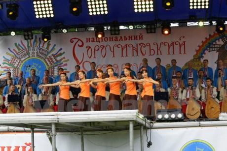 乌克兰传统展销会:越南展区吸引众多参观者驻足观看 hinh anh 1