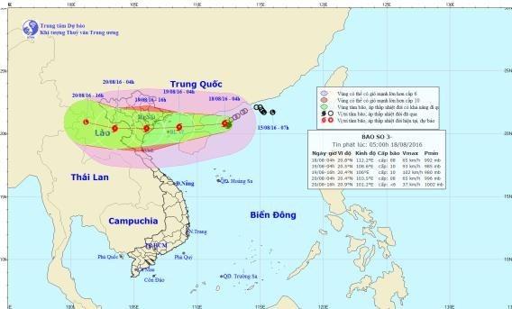 第三号台风偏西移动有加强趋势 hinh anh 1