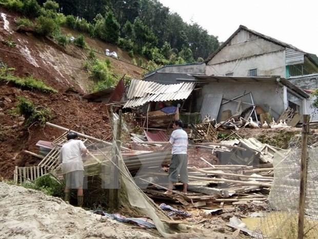 越南北部遭第3号台风袭击3人死亡 hinh anh 1