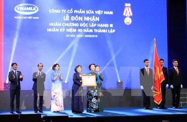 Vinamilk成立40周年纪念典礼在河内举行 hinh anh 1