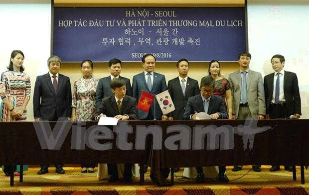 越南河内与韩国首尔加强合作关系 hinh anh 1