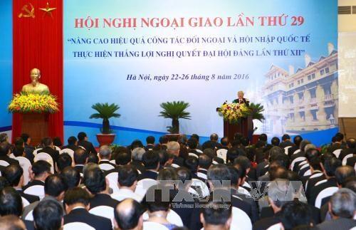 越共中央总书记阮富仲出席第29届外交会议 hinh anh 3