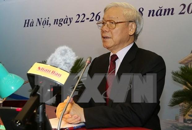 越共中央总书记阮富仲出席第29届外交会议 hinh anh 4