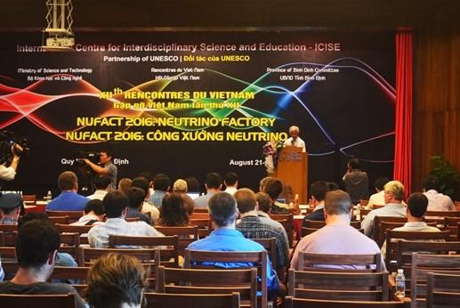 """""""微中子工厂""""国际科学会议在平定省开幕 hinh anh 1"""
