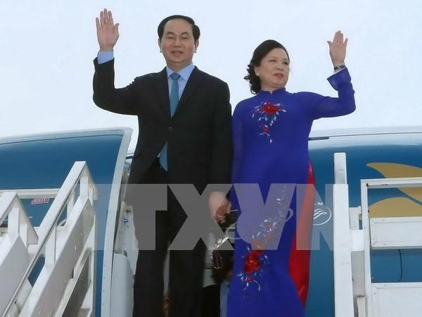 国家主席陈大光访问文莱与新加坡前夕:推动国际关系深入发展 hinh anh 1