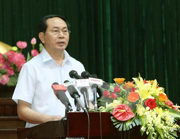 越南国家主席陈大光即将对文莱和新加坡进行国事访问 hinh anh 1