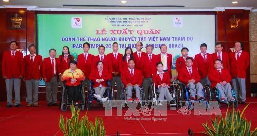 2016年里约残奥会:越南残奥代表团出征仪式在胡志明市举行 hinh anh 1