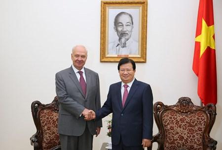 郑庭勇副总理会见俄罗斯驻越大使弗努科夫 hinh anh 1