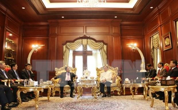 越共中央组织部高级代表团在老挝进行的各活动 hinh anh 1