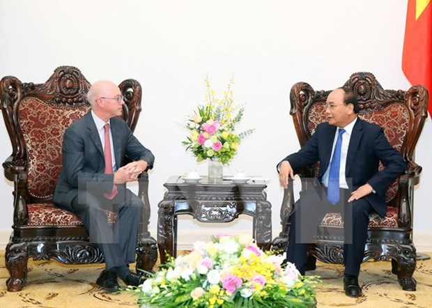 阮春福总理会见国际货币基金组织驻越首席代表乔纳森•邓恩 hinh anh 1