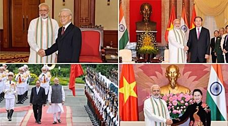 印度总理圆满结束访越之旅双方签署多项合作文件 hinh anh 1