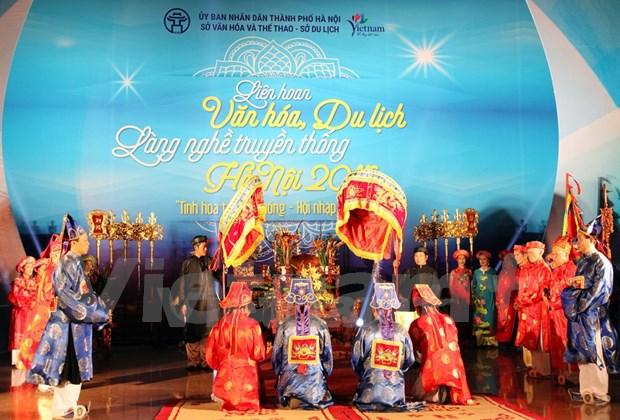 2016年河内传统手工艺品文化旅游联欢会即将举行 hinh anh 1