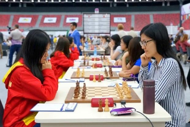 2016年国象奥赛:越南女队战平中国队 hinh anh 1