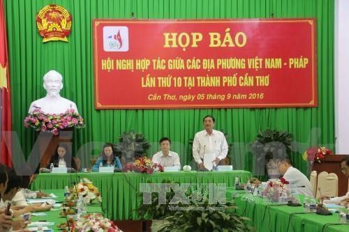气候变化成为第10届越南—法国地方间合作会议特殊专题 hinh anh 1