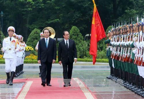 越南国家主席陈大光同法国总统弗朗索瓦·奥朗德举行会谈 hinh anh 1