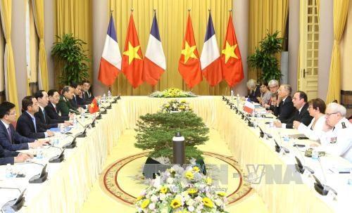 越南国家主席陈大光同法国总统弗朗索瓦·奥朗德举行会谈 hinh anh 2