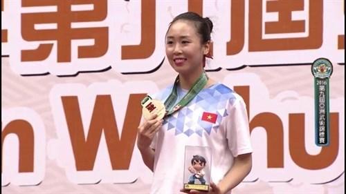 2016年亚洲武术锦标赛:越南队共获4金8银6铜 hinh anh 1
