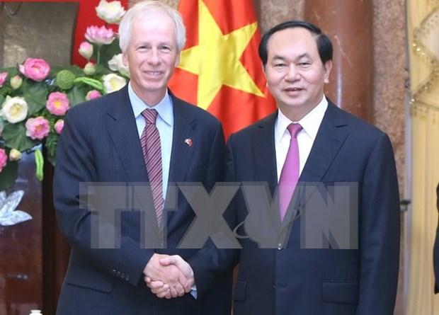 越南国家主席陈大光会见加拿大外交部长斯特凡纳•迪翁 hinh anh 1