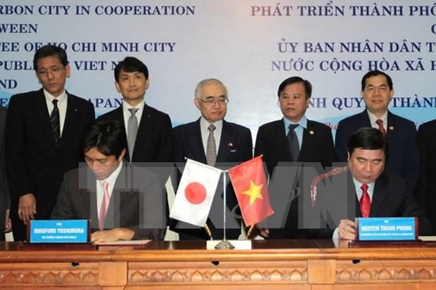 越南胡志明市与日本大阪市加强合作发展低碳城市 hinh anh 1
