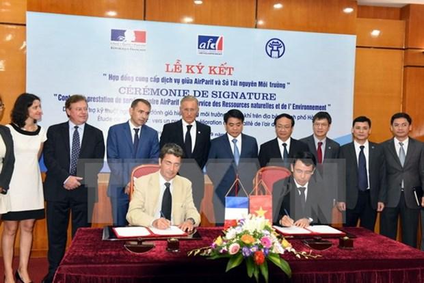 法国向越南河内市提供12万欧元援助 加强空气环境质量管理 hinh anh 1