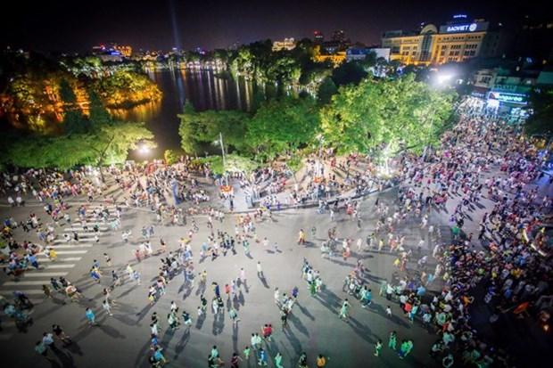今年国庆假期河内市接待游客量达20.7万多人次 hinh anh 1