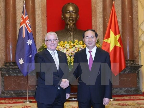 国家主席陈大光接受五国新任驻越大使递交国书 hinh anh 1