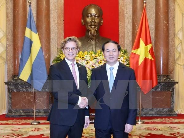 国家主席陈大光接受五国新任驻越大使递交国书 hinh anh 5