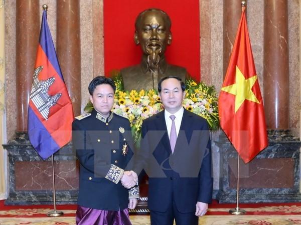 国家主席陈大光接受五国新任驻越大使递交国书 hinh anh 3