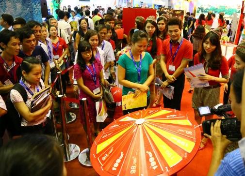 2016年胡志明市国际旅游展览会:越捷航空公司推出2100多张零价机票 hinh anh 3
