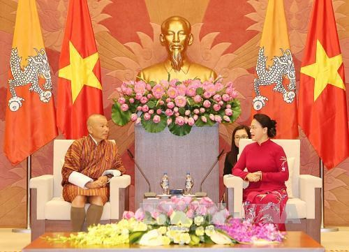 越南国会主席阮氏金银会见不丹议会议长吉格梅·章波 hinh anh 1