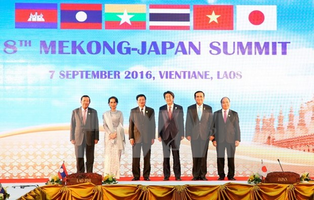 阮春福总理:越南承诺继续为强化湄公河流域国家与日本合作作出更多努力 hinh anh 1