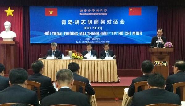 越南胡志明市与中国青岛市进行商务对话 hinh anh 1