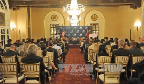 越南计划与投资部部长阮志勇主持越美投资促进研讨会 hinh anh 1