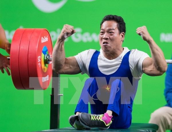 2016年残奥会:越南举重运动员黎文功打破世界纪录 hinh anh 1