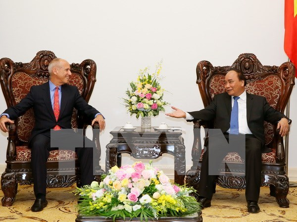 阮春福总理会见印度支那资本集团首席执行官彼得·R·莱德 hinh anh 1