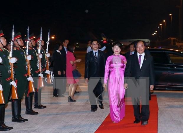 阮春福总理圆满结束赴老出席第28、29届东盟峰会和系列会议 hinh anh 1