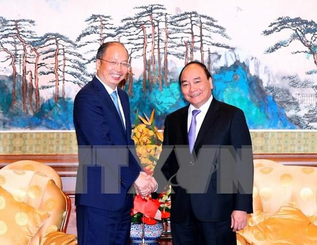 阮春福总理会见中国大型集团和银行领导 hinh anh 1